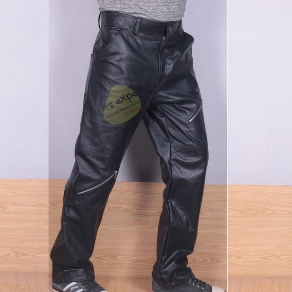 Pure Cowhide Leather Cargo Pant Kilt Experts