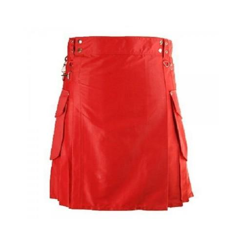 Red Cargo Utility Kilts For Active Men - Kilt Experts