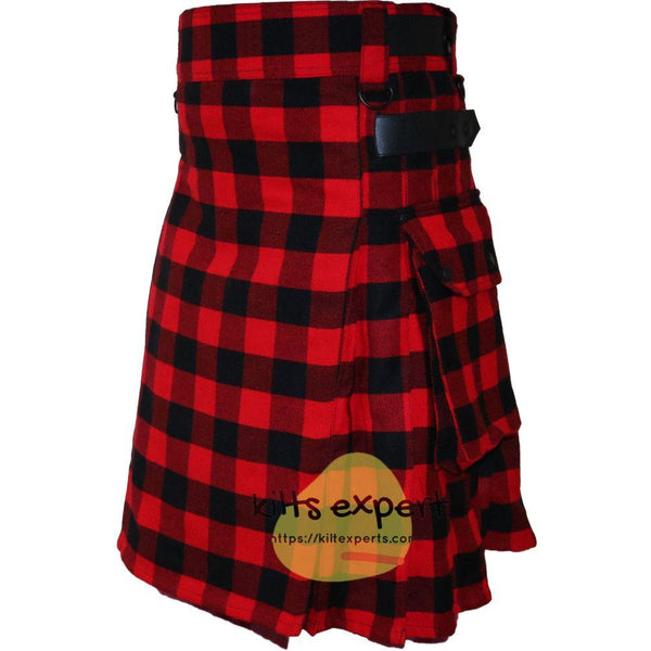 Rob Ray Tartan 16Oz Leather Straps Utility Kilts - Kilt Experts