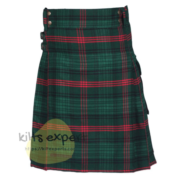 Rose Hunting Tartan Heavy 16Oz Utility Kilt - Kilt Experts