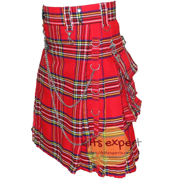 Royal Stewart Heavy 16Oz Stud Kilt - Kilt Experts