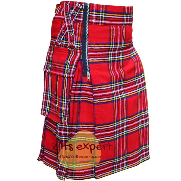 Royal Stewart heavy 16Oz Zipper Gothic Kilt - Kilt Experts