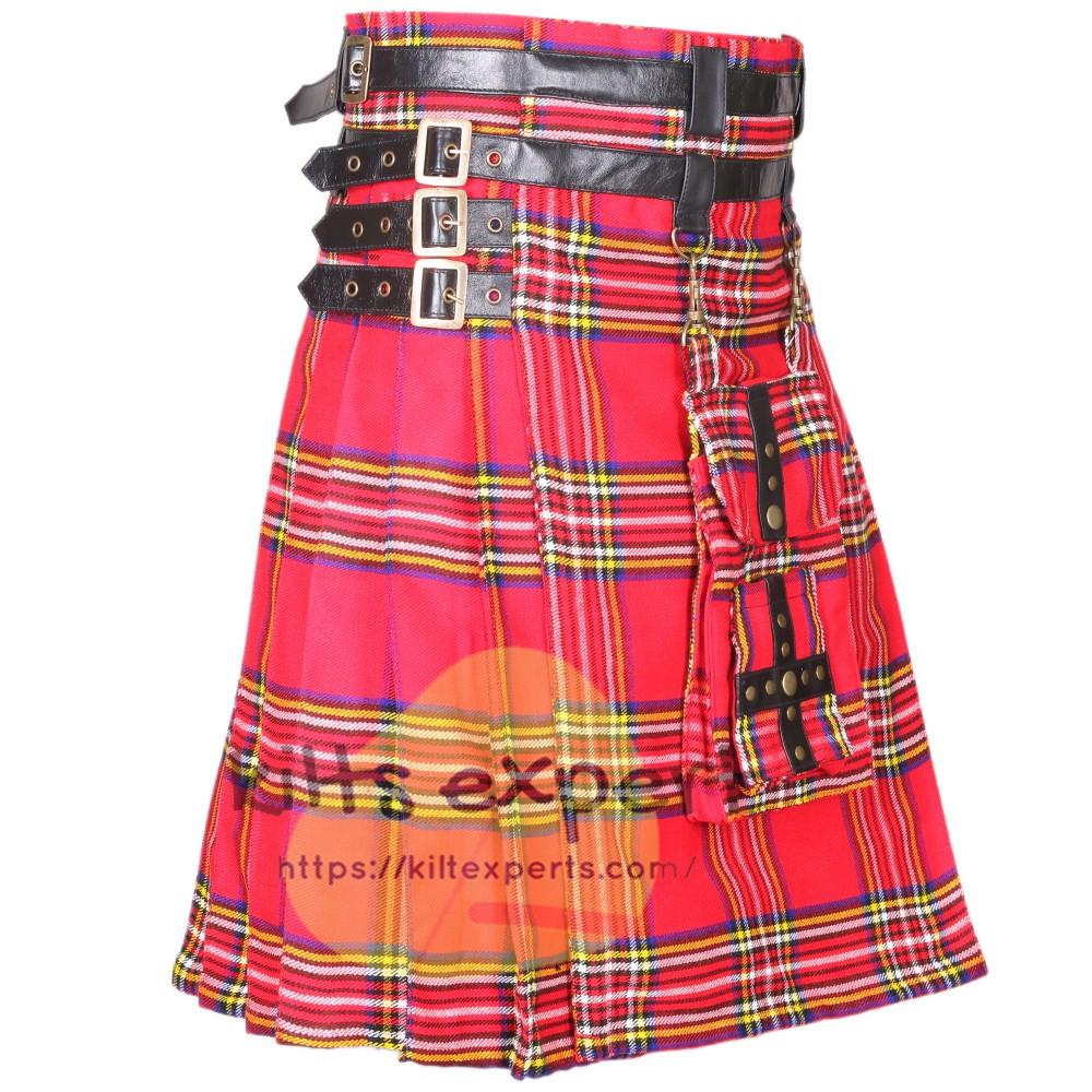 Royal Stewart Modern Best Tartan Utility Kilt With Detachable Pockets