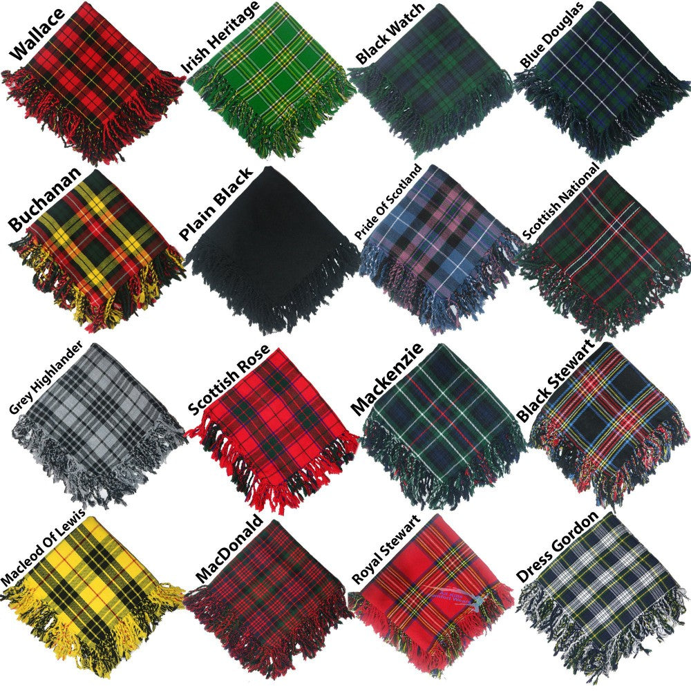 Scottish Traditional Acrylic Wool Flyplaid 48'' By 48''
