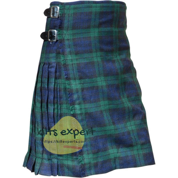 Scottish Traditional Black Watch 8 Yard & 13oz Tartan Kilt - Kilt Experts