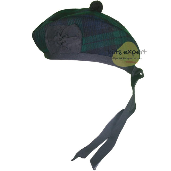 Scottish Traditional Black Watch Glengarry Hat - Kilt Experts