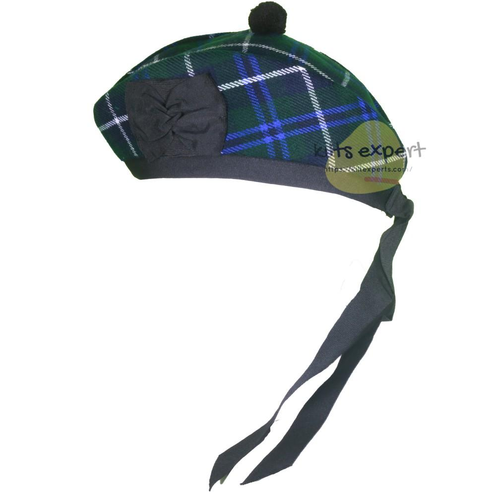 Scottish Traditional Blue Douglas Glengarry Hat