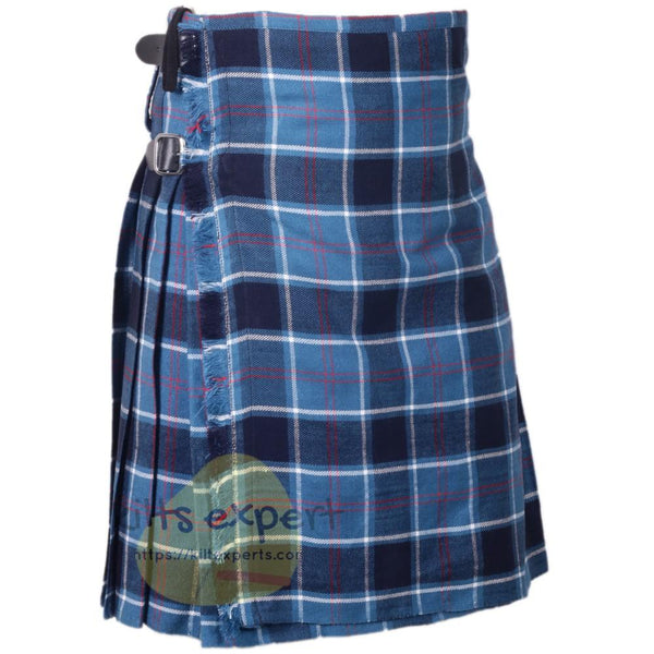Scottish Traditional Clan Blue Tartan 8 Yard & 16 oz Tartan Kilt - Kilt Experts