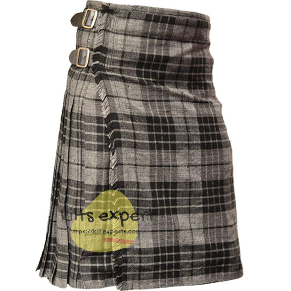Scottish Traditional Grey Highlander 8 Yard & 13oz Tartan Kilt - Kilt Experts