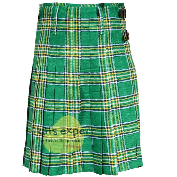 Scottish Traditional Irish Heritage 8 Yard & 13oz Tartan Kilt - Kilt Experts