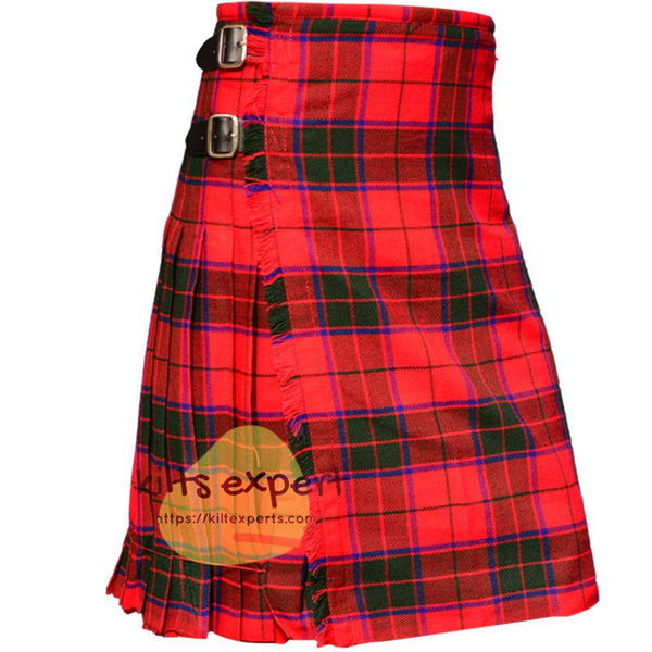 Scottish Traditional Robertson Tartan 8 Yard & 13oz Tartan Kilt - Kilt Experts