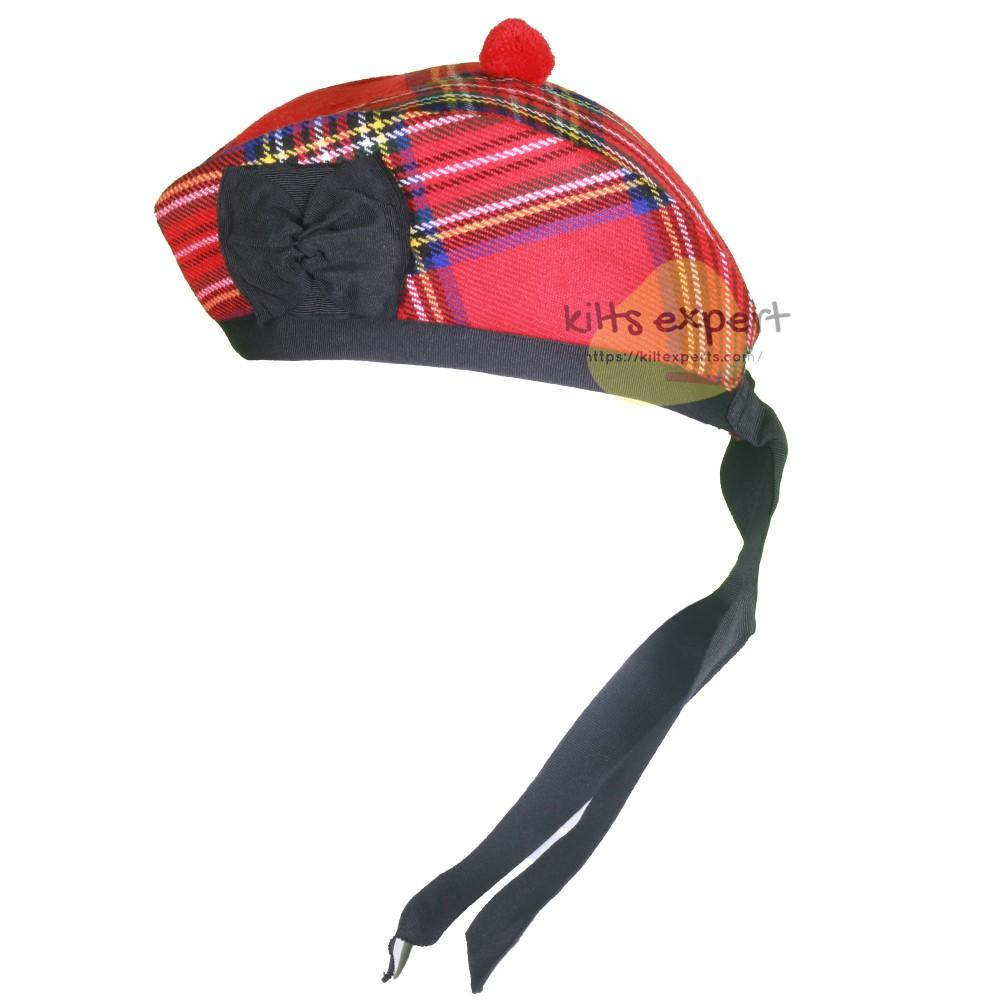 Scottish Traditional Royal Stewart Glengarry Hat