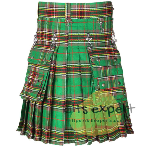 Tara Murphy Ancient Tartan 16OZ Stud Kilt - Kilt Experts