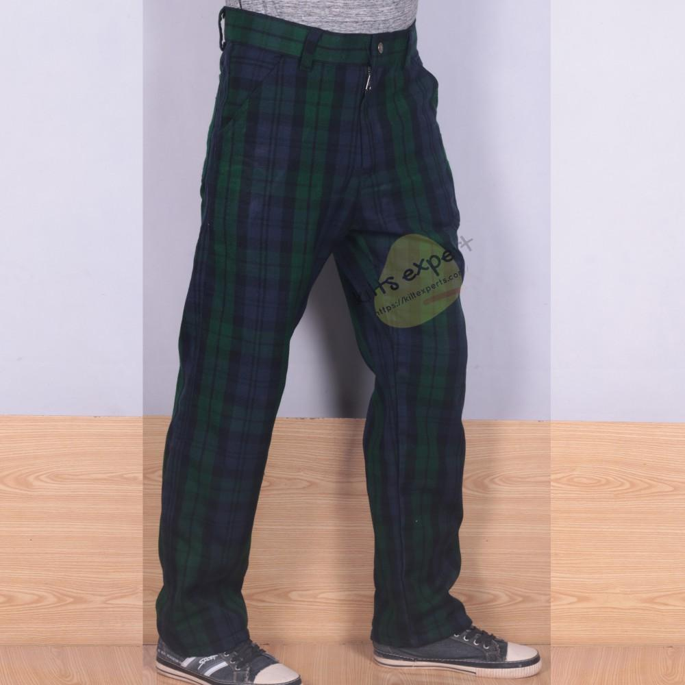 Tartan Acrylic Wool Simple Pant