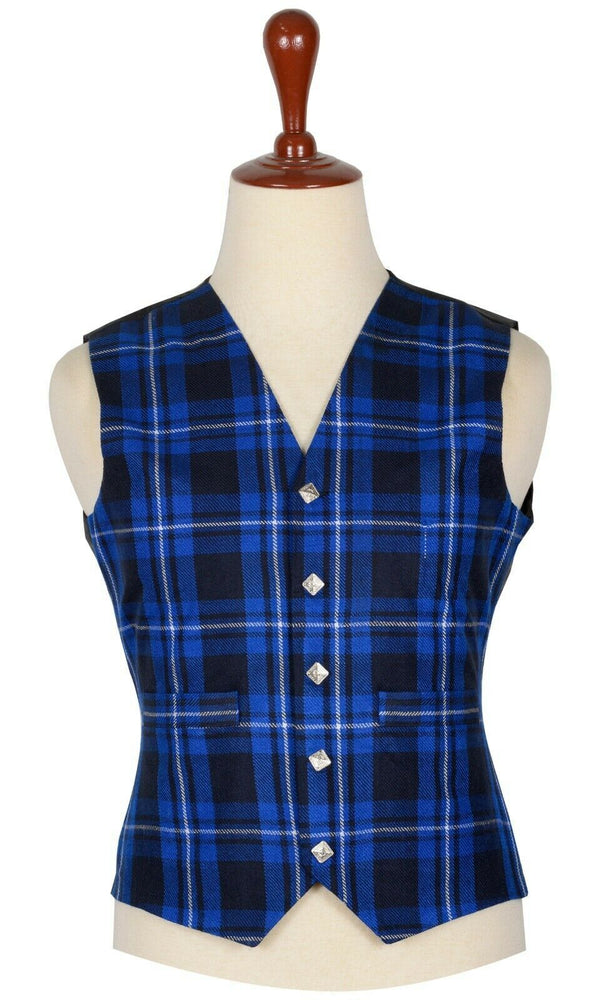 Traditional Scottish American Patriot 5 Buttons Tartan Waistcoat / Plaid Vest - Kilt Experts