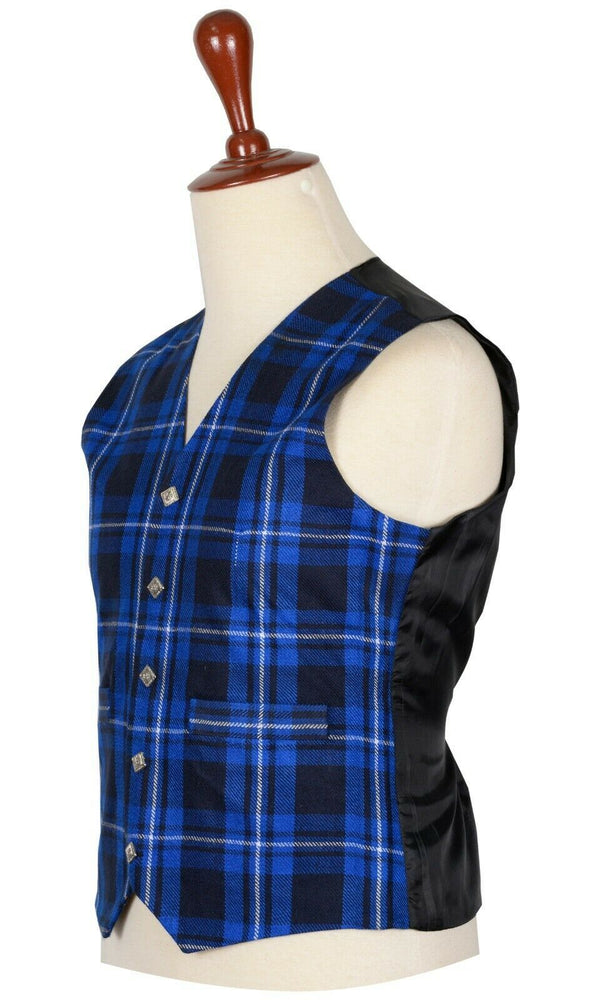 Traditional Scottish American Patriot 5 Buttons Tartan Waistcoat / Plaid Vest