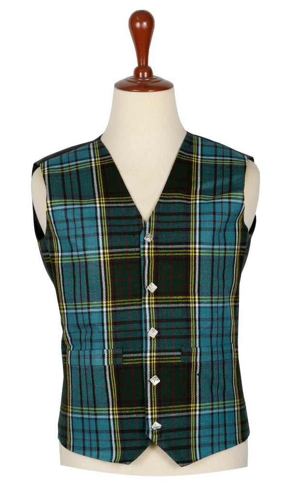 Traditional Scottish Anderson 5 Buttons Tartan Waistcoat / Plaid Vest
