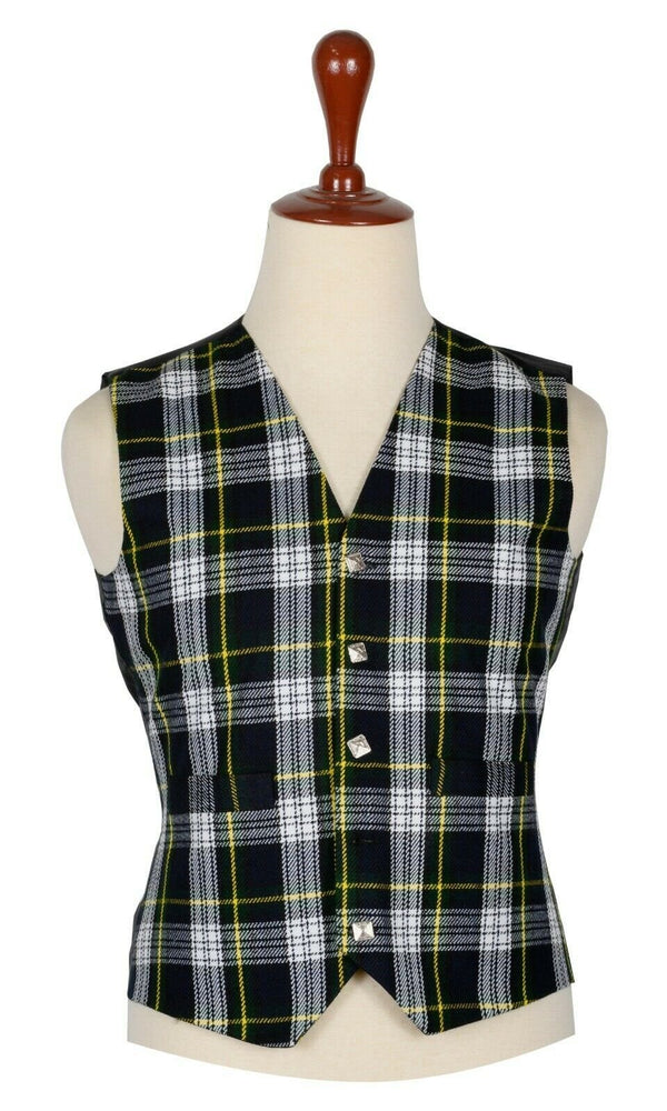 Traditional Scottish Dress Gordon 5 Buttons Tartan Waistcoat / Plaid Vest