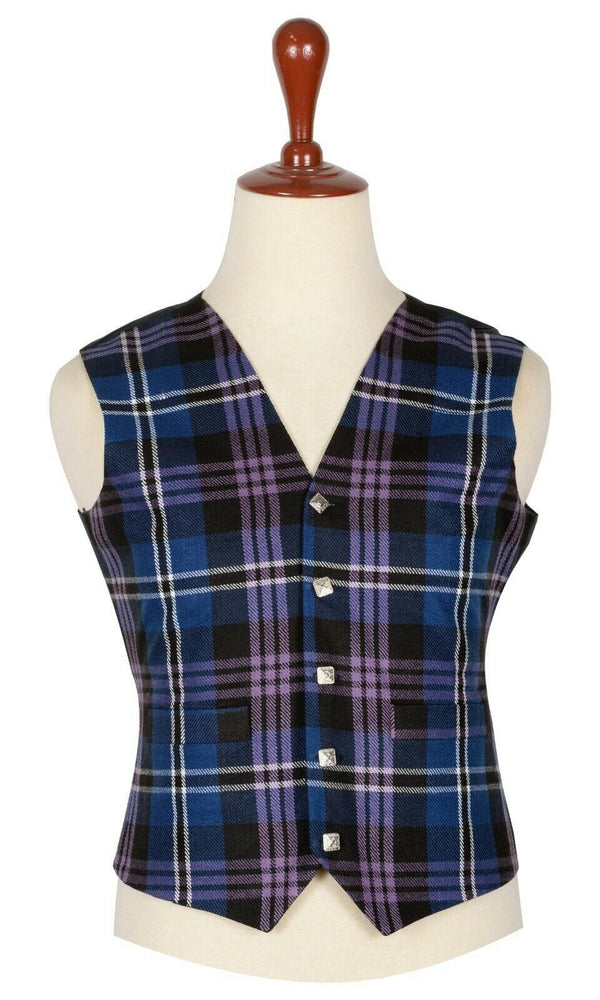 Traditional Scottish Pride Of Scotland 5 Buttons Tartan Waistcoat / Plaid Vest - Kilt Experts