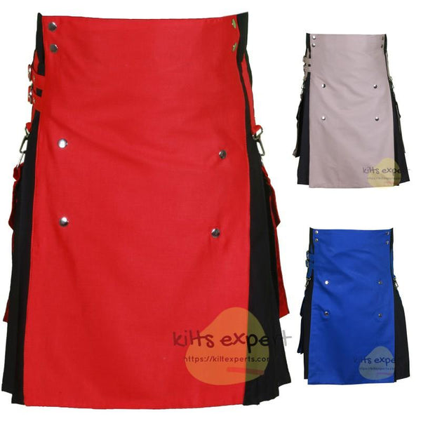 Two Tone Modern Utility Kilts For Active Men Kilt Experts