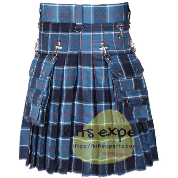 USA Navy Tartan 16OZ Stud Kilt Kilt Experts