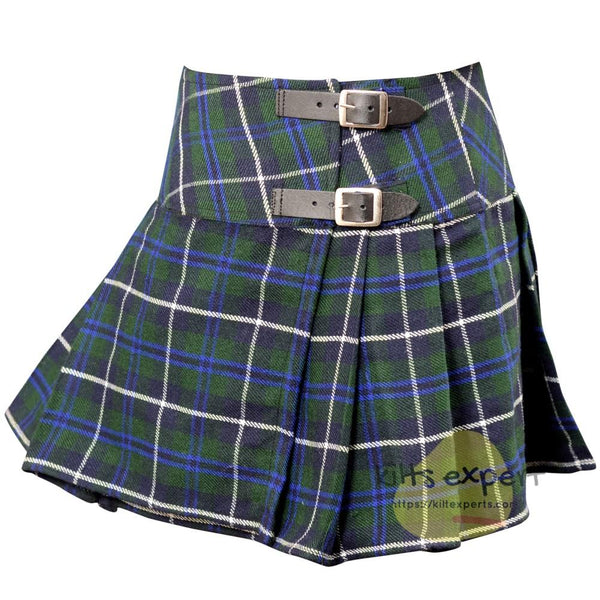 Women's Blue Douglas Tartan Kilts - Kilt Experts