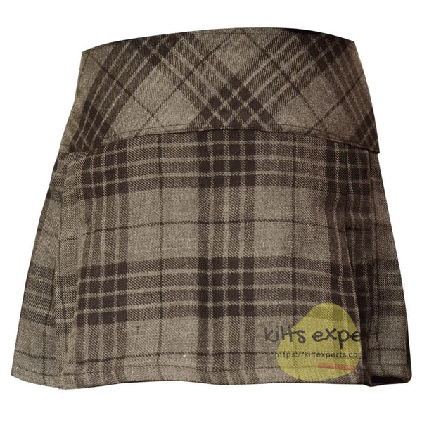 Women's Grey Highlander Tartan Kilts - Kilt Experts