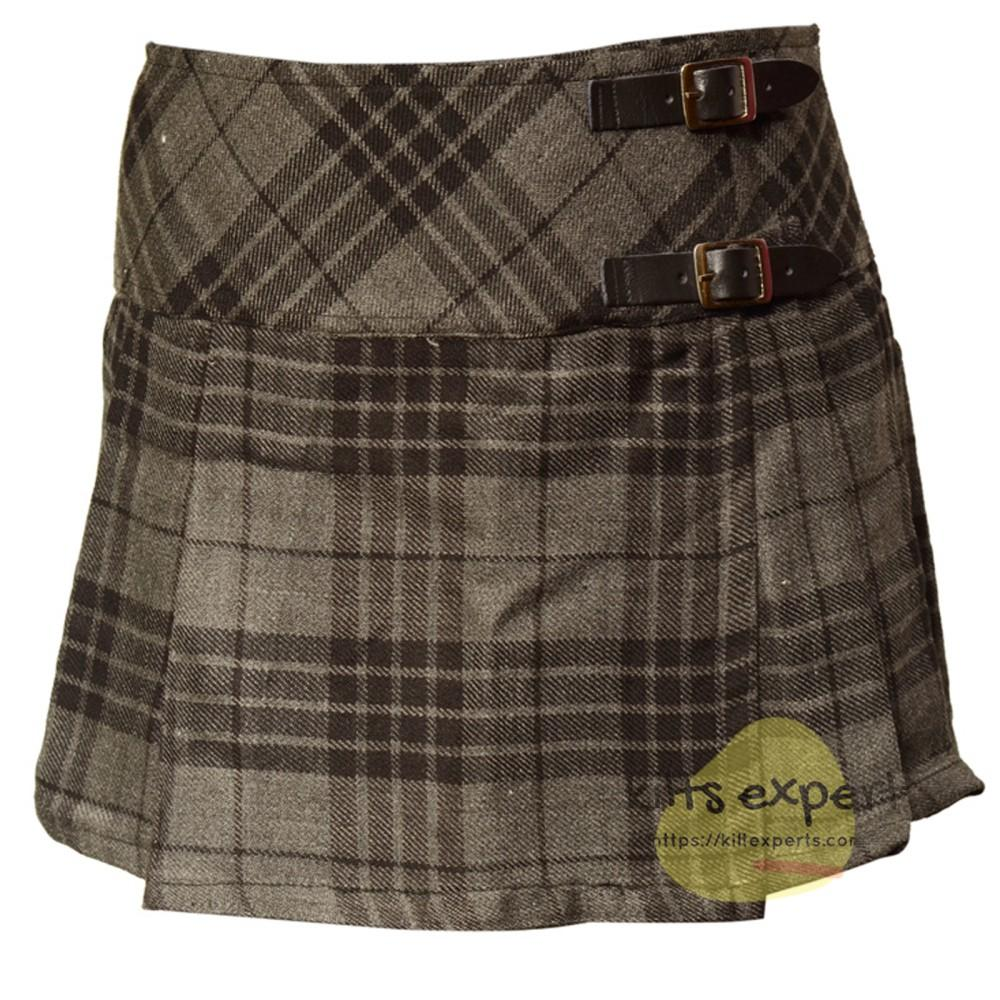Women's Grey Highlander Tartan Kilts