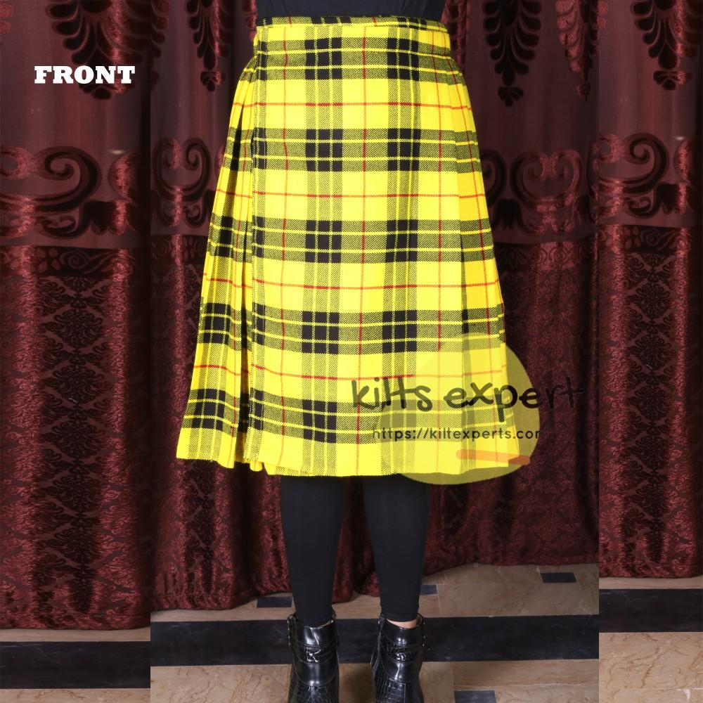 Women's Tartan Pleated Midi Kilt
