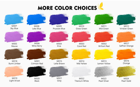 Calligraphy ink colours