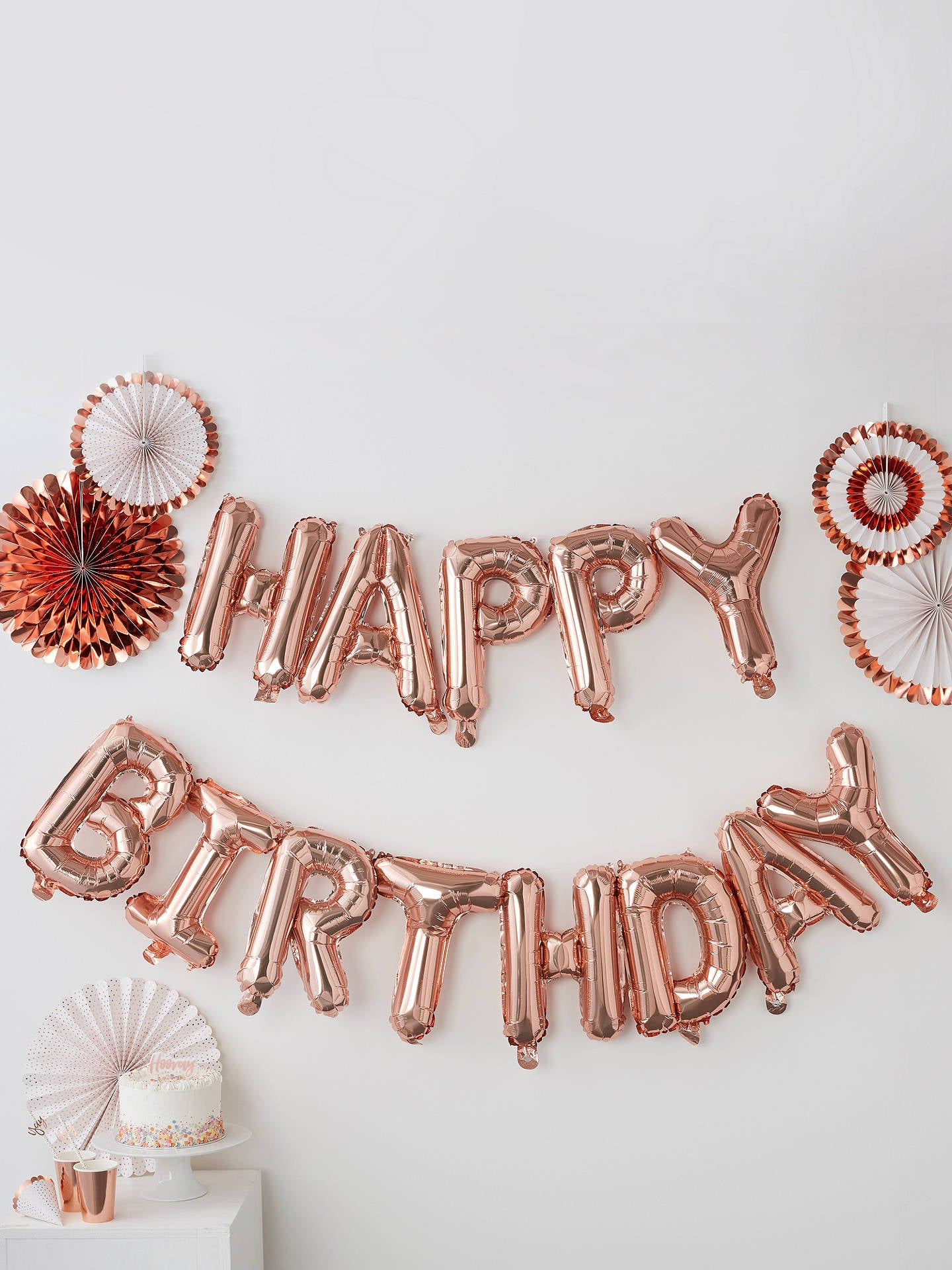 buy rose gold foil balloon letters birthday party