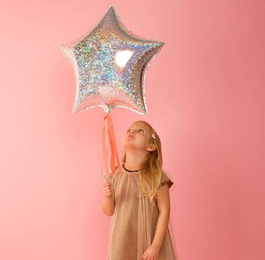 shop star holographic foil balloons delta