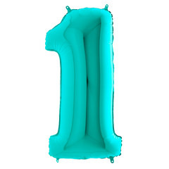 Tiffany Blue 1 Megaloon Balloon Numbers
