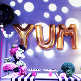 Gold Letter W Foil Balloon Letters