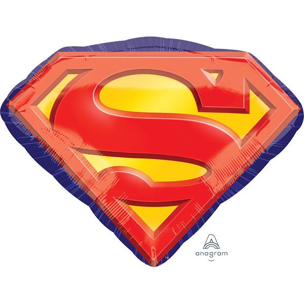 Superman Emblem Supershape Foil Balloon