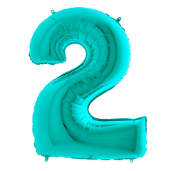 Tiffany Blue 2 Megaloon Balloon Numbers