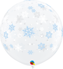 Winter Snowflakes Diamond Clear 3 ft. Balloons