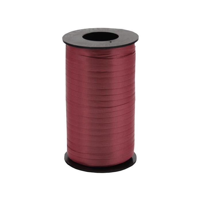 316 Poly Curling Ribbed Ribbon Burgandy