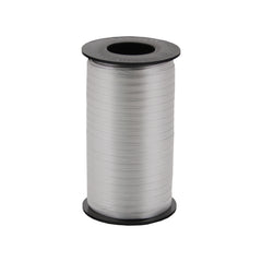 316 Poly Curling Ribbed Ribbon Silver