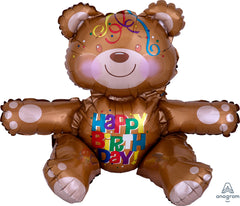 Air-filled Happy Birthday Bear