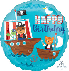 Happy Birthday Pirate Ship Balloon
