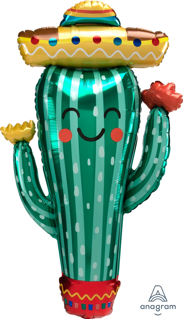 Fiesta Cactus Supershape Balloon