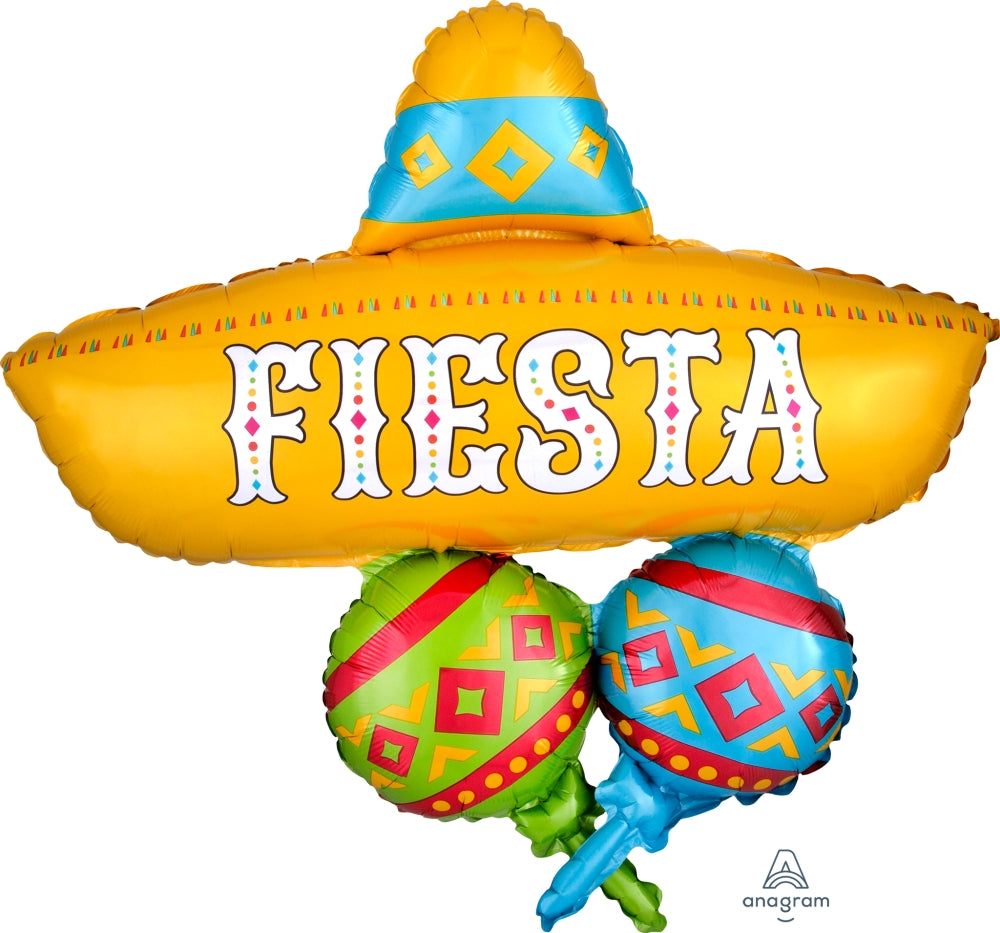 Papel Picado Fiesta Cluster Supershape Balloon