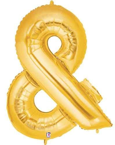 Gold Ampersand Foil Balloon Letters