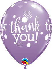 "Thank You Dots Upon Dots Lavender 11"" Balloon"