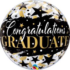 Graduate Black Stars Balloon