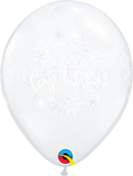"Congratulations Elegant Diamond Clear 11"" Balloons"