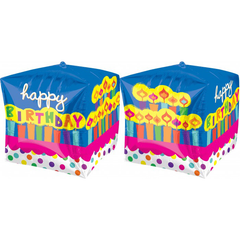 Birthday Cake Cube Balloon