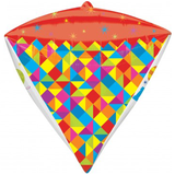Geometric Birthday Diamond Balloon