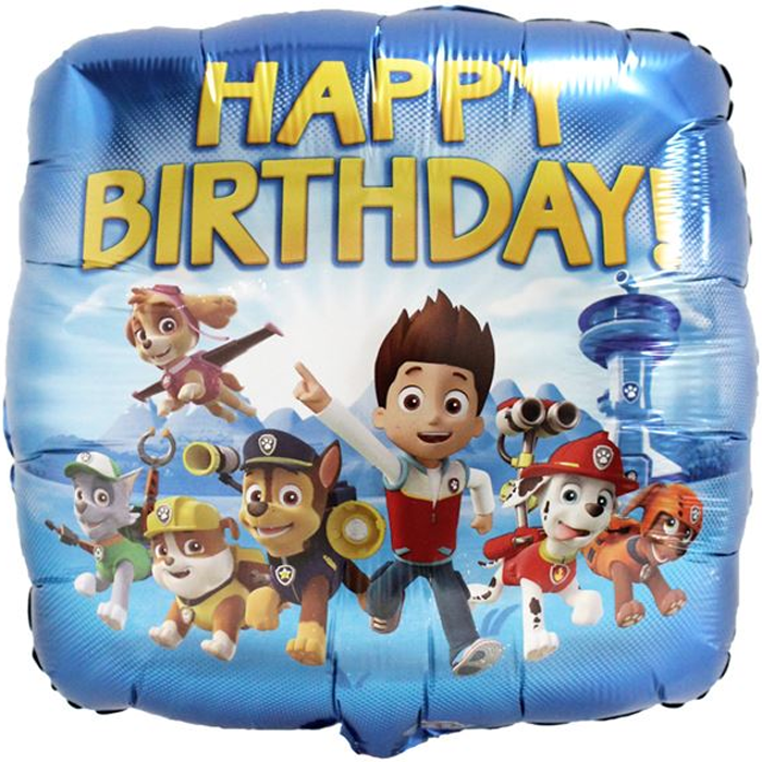 Paw Patrol Happy Birthday Balloon